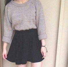 Wouldn't wear the skirt in winter, but definitely that sweater.