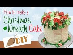 HOW TO MAKE a Buttercream Christmas Wreath Cake DIY#7 - YouTube