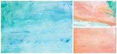 How to Create Simple, Striking Watercolor Scrapbook Paper Designs and Free Digital Download | TikkiDo.com
