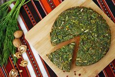 kookoo-yeh sabzi, a persian quiche/fritatta made with six different herbs and greens.
