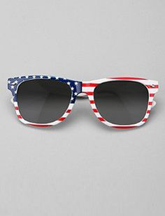 0d0ecf52e15 Protect your eyes from the suns rays with these patriotic sun glasses!  Urban Outfitters Sunglasses