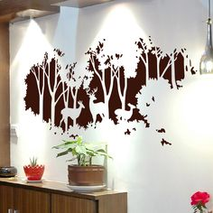 Wall Decoration Wall Decoration Wall Decor Decoration Ideas There are countless ways to revive your living room With creative nbsp hellip Cabin Nursery, Nursery Room Decor, Nursery Art, Kids Wall Decor, Baby Decor, Creative Walls, Creative Decor, Baby Room Wall Decals, Mural Wall Art