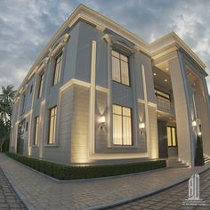 Classic House Exterior, Modern Exterior House Designs, Classic House Design, House Paint Exterior, Dream House Exterior, Exterior Design, 2 Storey House Design, Duplex House Design, House Front Design