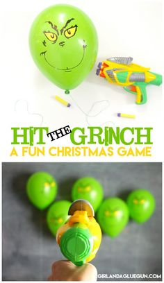 Hit the grinch--a fun and easy christmas games that kids will love! Perfect for family or classroom parties!