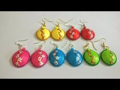 Learn how to make Paper Weaving Fan Shape Earrings If you guys want to buy our stuff / see more designs you can check our website http://nikkinish555.com/ Fa...