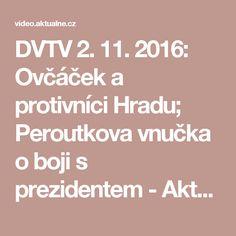 DVTV 2. 11. 2016: Ovčáček a protivníci Hradu; Peroutkova vnučka o boji s prezidentem - Aktuálně.TV