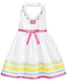 Blueberi Boulevard Baby Girls' Embroidered Halter Dress - Kids Baby Girl (0-24 months) - Macy's