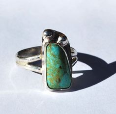 Turquoise Ring - Native American Ring - Southwestern Ring - Sterling Silver Ring - Size 8 Ring
