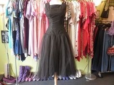 This is an amazing poofy black tulle and taffeta party dress! It is in very nice vintage condition, small metal zipper along the left side. Tulle Prom Dress, Party Dress, Prom Dresses, Formal Dresses, Andy Warhol Museum, Museum Wedding, Wedding Attire, All Things, Zipper