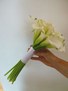 White cala lily bouquet. Lily Bouquet, Bouquets, Wedding Flowers, Wedding Day, Boutonnieres, Simple Pleasures, Showers, Flower Arrangements, Wedding Planning