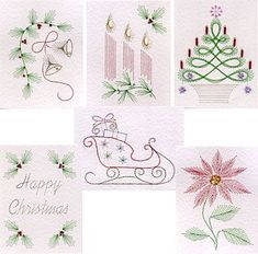 Image result for stitched christmas card template