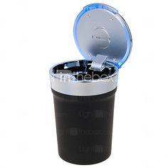 estilo de la taza portable universal llevó Cenicero para el uso del automóvil (1 x CR2032) - USD $13.99