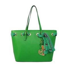 Cheap Michael Kors Jet Set Scarf Large Green Totes Clearance
