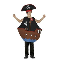 Disfraz niño/a Barco Pirata Disfraz de niño/a barco pirata, pirate ship, bateau pirate Costume Halloween, Sea Costume, Halloween Sewing, Fruit Costumes, Baby Costumes, Bateau Pirate, Cartoon Costumes, Pirate Life, Church Crafts