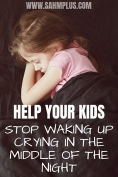 When a child is crying in the middle of the night, repeatedly, you wonder what the trouble is. What we did to get our kid to stop waking up crying. sahmplus.com #parenting #children #child #sleep #sleeping #crying