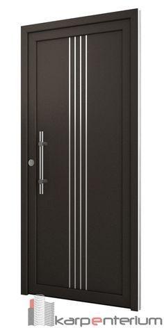 Puerta moderna B10-1 Exterior Entry Doors, Door Design Interior, Wooden Door Design, Doors Interior, Room Door Design, Exterior Door Designs, Grill Door Design
