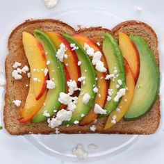 Peach & Feta Avocado Toast by Tasty