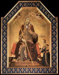 San Ludovico da Tolosa. 1317. Capodimonte.  Ludovico lascia il trono al fratello minore Roberto d'Angiò