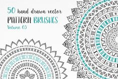 Also available as part of the Hand Drawn Pattern Brushes Bundle: 50 hand drawn vector pattern brushes Vol. 03 - Illustrator CS - NOTE: for Illustrator only, NOT for Photoshop! Set of 50 Henna Designs, Tattoo Designs, Lightroom, Photoshop Actions, Wreath Drawing, Illustrator Cs, Baby Shower Cards, Business Illustration, Japanese Tattoos