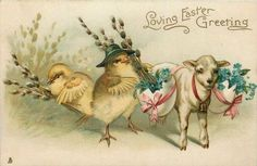 Old Easter Post Card —    Loving Easter Greetings (900x587)