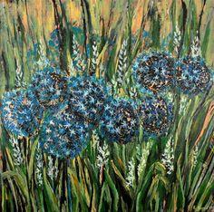 """Daily Paintworks - """"Wildflowers"""" - Original Fine Art for Sale - © Khrystyna Kozyuk"""