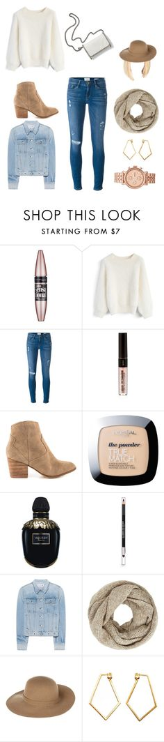 """""""1-4-2017 Wednesday"""" by micaiahjoi ❤ liked on Polyvore featuring Maybelline, Chicwish, Frame, ALDO, L'Oréal Paris, Alexander McQueen, The Body Shop, rag & bone, STELLA McCARTNEY and John Lewis"""