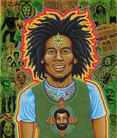 Pay tribute to the great with this all-over-print Roots Fleece Blanket, featuring original art by Chris Dyer.This product is hand made and made on-demand. Bob Marley Painting, Bob Marley Art, Bob Marley Tapestry, Rastafarian Culture, Reggae Art, Robert Nesta, Nesta Marley, Thing 1, Visionary Art