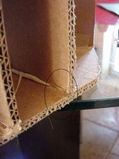 Tuto pour votre premier meuble en carton - CocoLife Chalk Paint, Diy And Crafts, Gold Necklace, Basket, Jewelry, Voici, Cardboard Furniture, Card Stock, Jewellery Making