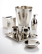 Clara Hammered Metal Bath Collection