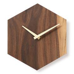 http://www.antiquealive.com/store/detail.asp?idx=5193&CateNum=170&pname=Walnut-Wood-Beehive-Design-Wall-Mount-Non-Ticking-Silent-Clock Walnut Wood Beehive Design Hexagonal Wall Mount Non-Ticking Silent Clock