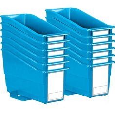 Durable Book And Binder Holders With Stabilizer Wings And Large Labels 12 Pack