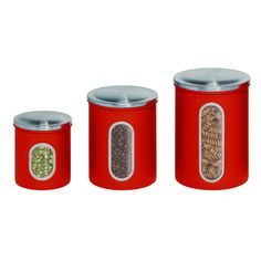 Honey can do 3-Piece Nested Canister Set In Red - Beyond the Rack