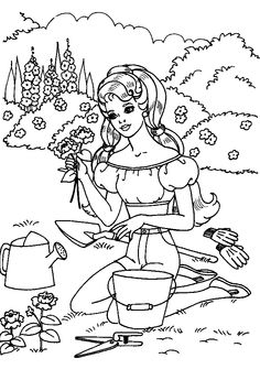 kids coloring sheets Barbie And