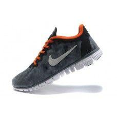 Ekte Nike Free 3.0 V2 Mann SombreGrise Oransje Rød Hvit i Frankrike{cTW8pu}