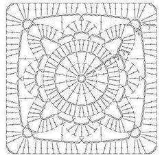 Transcendent Crochet a Solid Granny Square Ideas. Inconceivable Crochet a Solid Granny Square Ideas. Crochet Motif Patterns, Granny Square Crochet Pattern, Crochet Blocks, Crochet Diagram, Crochet Chart, Crochet Squares, Crochet Granny, Crochet Designs, Crochet Doilies