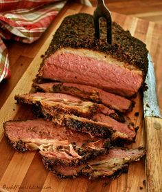 formats Homemade Pastrami Just Like Katz's New York Deli on June 2016 by Kelly in Beef, Cold, Hot, Main Dishes, Sandwiches 11 Comments Pastrami Sandwich, Sandwiches, Katz Deli Pastrami Recipe, Pastrami Brine Recipe, Smoker Recipes, Cooking Recipes, Oven Recipes, Vegetarian Cooking, Cheese