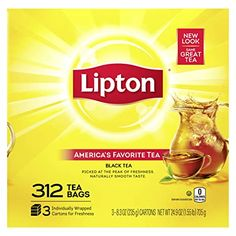 Lipton Tea Bags, Donut Shop Coffee, Black Tea Bags, Tea Tray, Best Tea, How To Make Tea, Refreshing Drinks, Gourmet Recipes