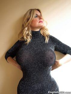 English MILF boobs - http://www.englishmilf.co.uk big tits British milf in sexy sheer dress with no bra