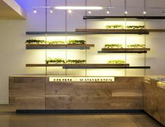 Inside of a retail cannabis dispensary Sparc in San Francisco contemporary interior design by Sand Studios.