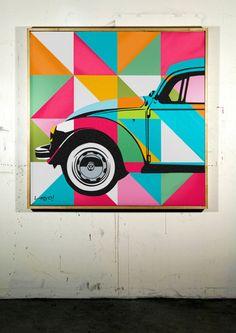 FUSCA | LOBO | POP ART www.lobopopart.com.br