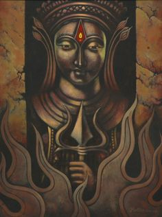 The Sound and the Light Lord Shiva Painting, Ganesha Painting, Art Sketches, Art Drawings, Shiva Art, India Art, Indian Art Paintings, Goddess Art, Silk Painting