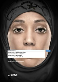 What Women Need To. Photo: Gute Werbung/UN Women Campaign by Memac Ogilvy & Mather Dubai ADV, advertising, mypointofview Women Rights, Guerilla Marketing, Marketing Ideas, Email Marketing, Digital Marketing, Creative Advertising, Gender Inequality, Gender Discrimination, Gender Stereotypes
