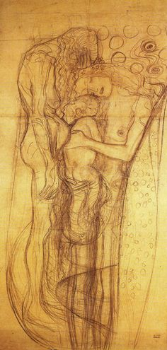 "Gustav Klimt - Study for hte ""Three Ages of Woman"