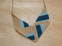 Make This - Knotted Chevron Necklace - Version 2 - Luxe DIY - How Did You Make This?