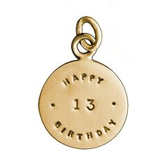 Personalized Gold Birthday Charm