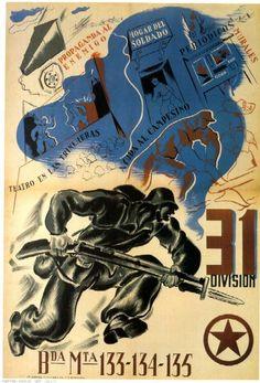 Spain - 1937. - GC - poster - 31. Division - @ Marti Bas