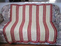 If you& looking for a swift crochet throw blanket, then stop right here. This Touch of Red Mile-a-Minute Throw works up fast because of the mile-a-minute technique. You will work this quick crochet project by making the panels and connecting them. Crochet Afghans, Baby Blanket Crochet, Crochet Blankets, Baby Afghans, Crochet Mile A Minute, Quick Crochet, Irish Crochet, Simple Crochet, Free Crochet