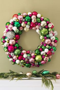 Skipping traditional scarletputs a fresh spin on theseasonal palette.Don't forget to tuck in sparklyaccents like glittery ornaments and star-shaped baubles. Get the tutorial at Good Housekeeping»