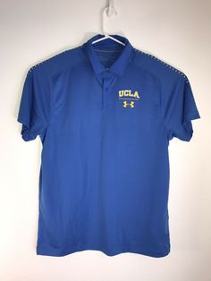 Under Armour UCLA logo polo NWT men\'s size L S/S heat gear Loose. #fashion #clothing #shoes #accessories #mensclothing