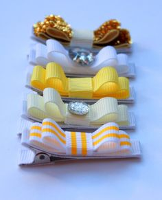 Belle's Bows  Inspired By Disney Princess  Beauty and by sjtew29, $25.00